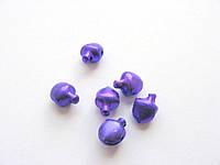 Бубенчик металлический, фиолетовый , 6 мм