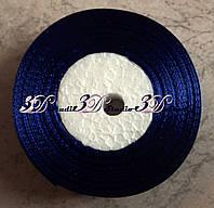 Лента атласная цвет №11(40) (темно-синяя) шириной 2,5 см