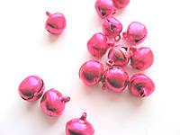 Бубенчик металлический, декоративный.  Ярко-розовый 12 мм