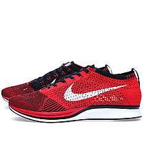 Мужские кроссовки Nike Flyknit Racer University Red 526628-610, Найк Флайнит, фото 2