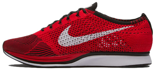 Мужские кроссовки Nike Flyknit Racer University Red 526628-610, Найк Флайнит
