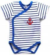 Летний бодик-футболка на мальчика Морячок (3-18 мес)