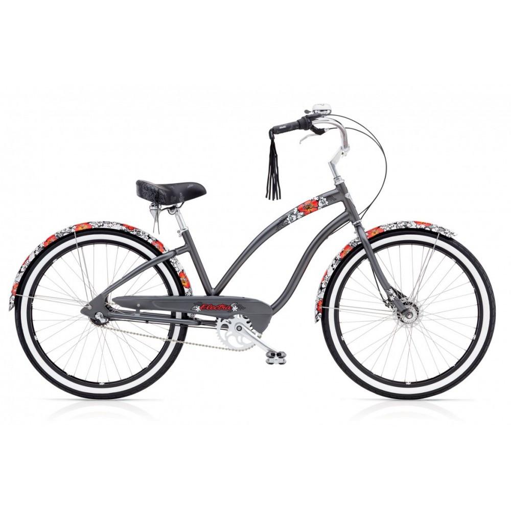 """Велосипед 26"""" ELECTRA Wild Flower 3i Ladies'Dark Grey Metallic"""