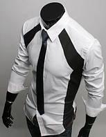 Мужская стильная рубашка с длинным рукавом, фото 1