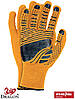 Рукавички захисні з флюоресцентної тканини, оброблені гумкою, проклеєні FLOATEX-NEO PB, фото 2