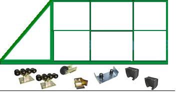 Готовые комплекты для ворот, комплект конструктор.