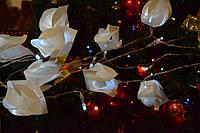 Светодиодная гирлянда штора из 120 лампочек ( 61 тюльпан) электрическая
