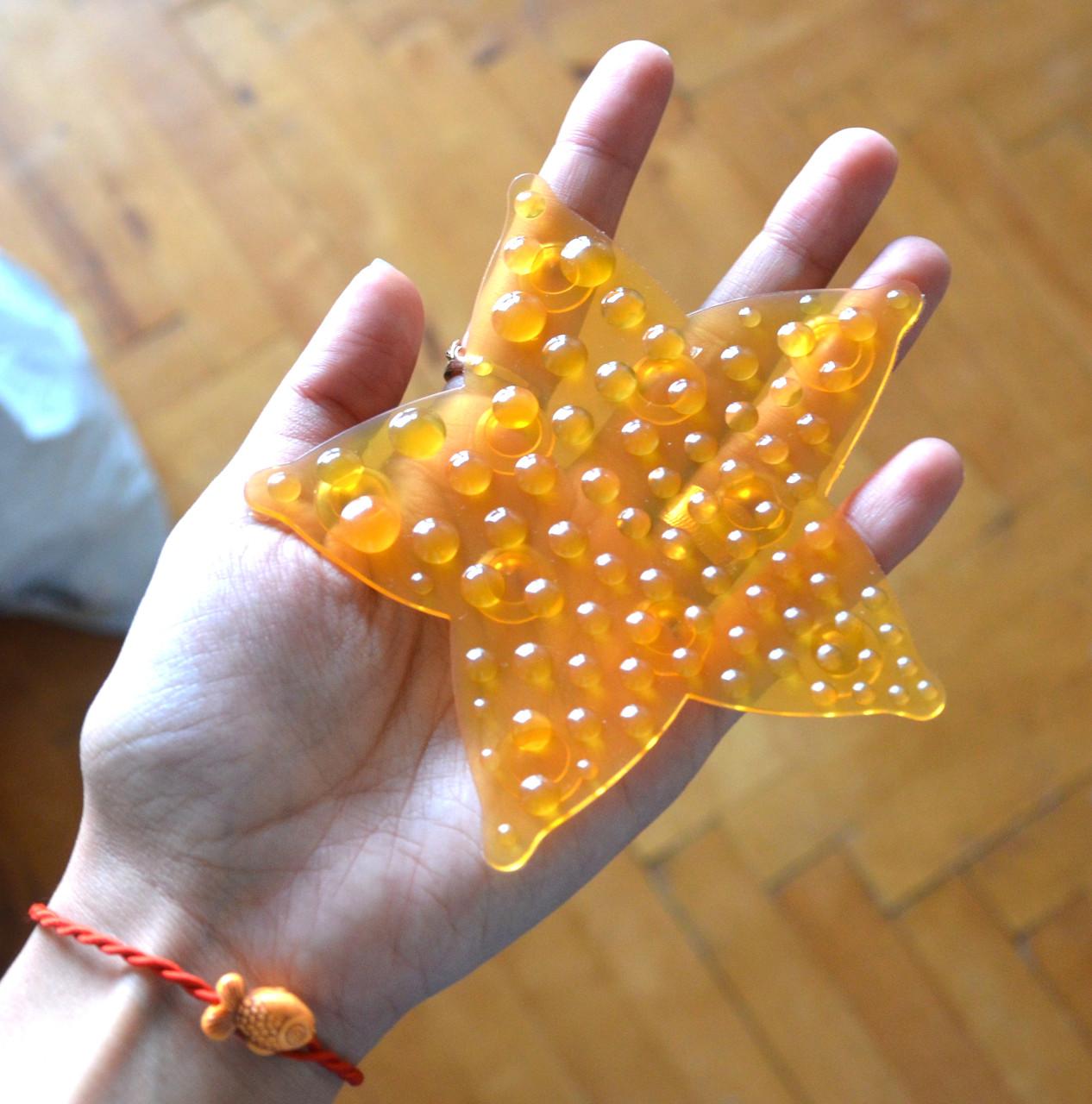 Морская звезда ОРТОпедическая оранжевая полуцвет. Мини-коврик
