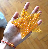 Морская звезда ОРТОпедическая оранжевая полуцвет. Мини-коврик, фото 1