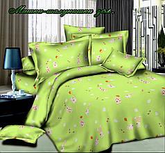 """Комплект в дитяче ліжечко """"Ведмедики-пустунчика зелені"""""""