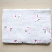Муслиновая пеленка ''Розовые звезды''