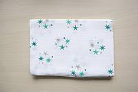 Муслиновая пеленка ''Мятные звезды''