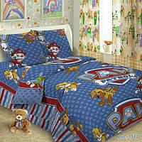 Ткань для детского постельного белья, поплин Щенячий патруль