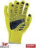 Перчатки защитные из флюоресцентной ткани, отделанные резинкой, проклеенные FLOATEX-NEO YB, фото 2