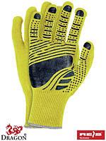 Перчатки защитные из флюоресцентной ткани, отделанные резинкой, проклеенные FLOATEX-NEO YB