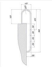 Сходи для басейну 3 ступені Standart (Muro) сталь 304, виробництво Україна, фото 2