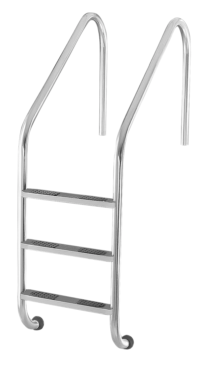 Сходи для басейну 4 ступені Lux (Standart) сталь 304, виробництво Україна