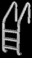 Лестница для бассейна 3 ступени Lux (Standart) сталь 304, производство Украина