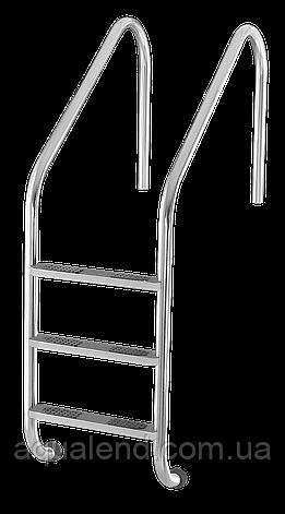 Сходи для басейну 4 ступені Lux (Standart) сталь 304, виробництво Україна, фото 2