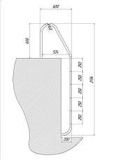 Лестница для бассейна 3 ступени Lux (Standart) сталь 304, производство Украина, фото 2