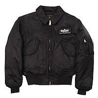 Оригинальная летная куртка CWU 45/P Alpha Industries (черная), фото 1