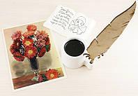 "Открытка ""Цветы"" 1957 год фото И.Шалина"