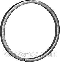 Кольцо кованое декоративное 12х6 полоса гладкая