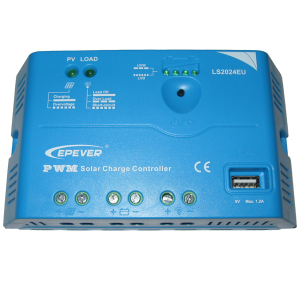 Контроллер заряда солнечной батареи EPSolar 20А-12/24В-USB LS2024EU