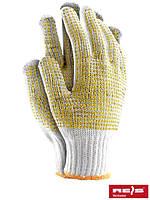 Защитные перчатки выполненные из трикотажа с двусторонним точечным покрытием RDZNN WY