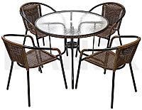 Меблі для літніх кафе. Стіл 90 см + 4 крісла