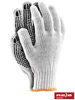 Перчатки защитные, сделанные из х/б с односторонним слоем ПВХ RDZN WB