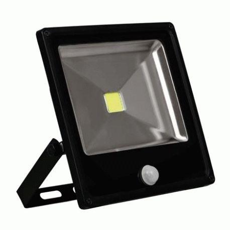 Прожектор светодиодный LL-861 1LED 20W белый 6400K(+датчик) 230V (184*180*57mm) Черный