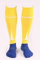 Гетры футбольные Liga Sport (желтый+синий)