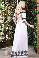 Женское летнее платье макси белое + большой размер