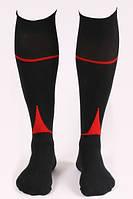 Гетры футбольные Liga Sport (черный+красный)