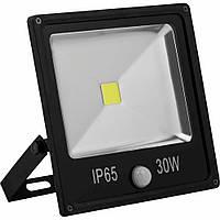 Прожектор светодиодный LL-862 1LED 30W белый 6400K(+датчик) 230V (227*221*67mm) Черный