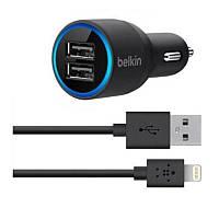 Автомобильное зарядное устройство от прикуривателя Belkin для iPhone 5/5S/6/6S и Ipad 4/Air/Air2/Mini