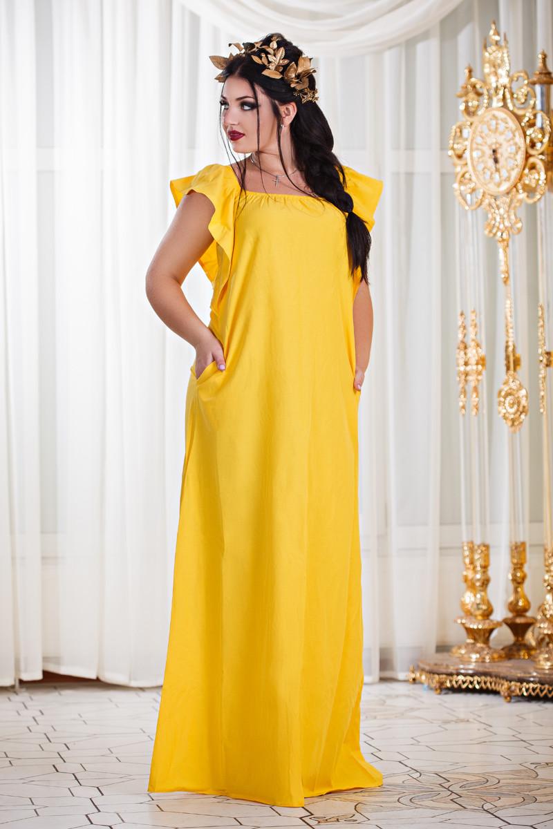 Д297 Платье в пол  в расцветках размеры 48-54