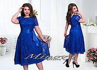 """Гипюровое платье до 54 размера """"Маргарита"""""""