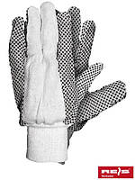 Защитные перчатки из тика с точечным покрытием RN BEB