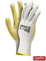 Защитные перчатки из нейлона с точечным покрытием с одной стороны RNYDO WY