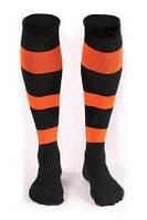 Гетры футбольные Liga Sport (черный+оранжевый)