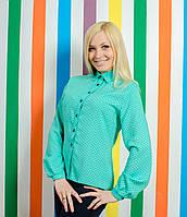 Стильная женская рубашка мята, фото 1