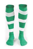 Гетры футбольные Liga Sport (зеленый+белый)