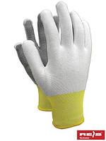 Перчатки защитные, изготовленные из полиестера с односторонним микроточечным покрытием RTENA WB