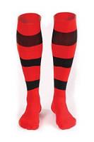 Гетры футбольные Liga Sport (красный+черный), фото 1