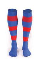 Гетры футбольные Liga Sport полосатые (синий+красный), фото 1