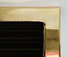 Решетка каминная с покрытием и жалюзи, Позолоченая