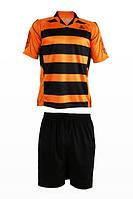 Футбольная форма игровая LigaSport 3 (Оранжевый+Черный)
