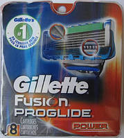 Лезвия Gillette Fusion Proglide Power, 8 Cartridges